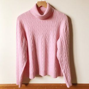 Charter Club Pink Cashmere Turtleneck Sweater M